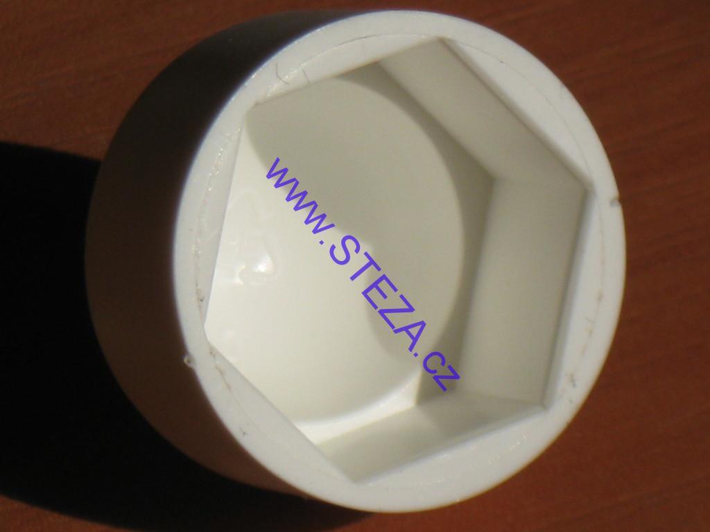 STEZA - Krytka na matice a šrouby M12, plastová BÍLÁ (Plastové krytky se používají na překrytí matic a šroubů)