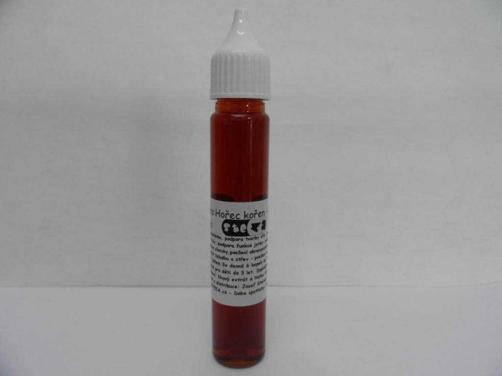 STEZA - Tinktura Hořec kořen - FORTE 25 ml. (Extra silná. Složení: lihový extrakt, hořec kořen)