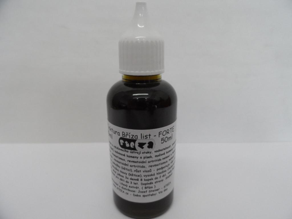 STEZA - Tinktura Bříza list FORTE 50 ml. (Extra silná. Složení: lihový extrakt, bříza list)