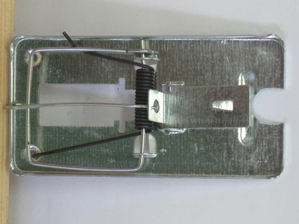 STEZA - Past na myši a potkany s kovovou nášlapnou destičkou.pozinkovaný plech (nové)