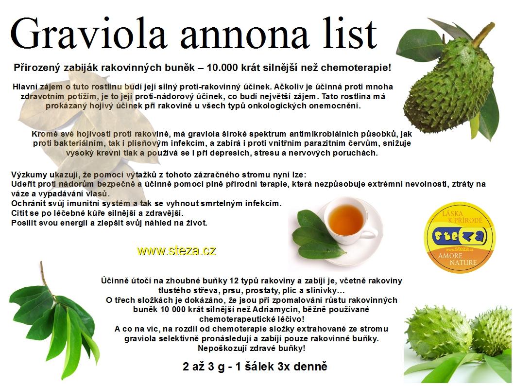 STEZA - Graviola list 1 gram (Graviola annona - 1g )